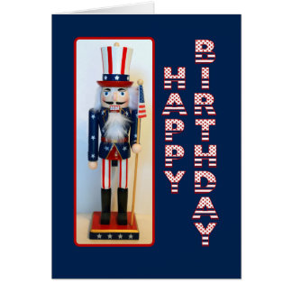 Uncle Sam Nutcracker Happy Birthday Card