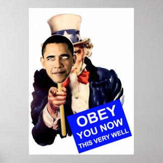 uncle sam, obey, obama poster