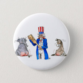 Uncle Sam Paddle 2 Inch Round Button