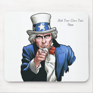 Uncle Sam Personalized Mousepad