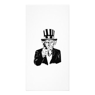 Uncle Sam Photo Card Template