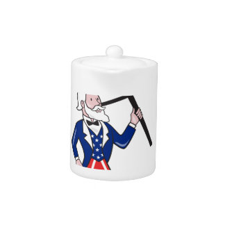 Uncle Sam Placard Vote Standing Cartoon