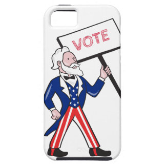 Uncle Sam Placard Vote Standing Cartoon Case For The iPhone 5