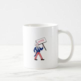 Uncle Sam Placard Vote Standing Cartoon Coffee Mug