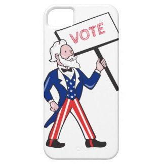 Uncle Sam Placard Vote Standing Cartoon iPhone 5 Covers