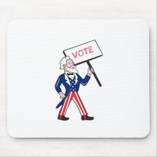 Uncle Sam Placard Vote Standing Cartoon Mouse Pad