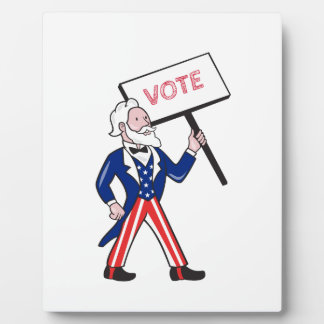 Uncle Sam Placard Vote Standing Cartoon Plaque