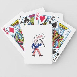 Uncle Sam Placard Vote Standing Cartoon Poker Deck