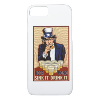 uncle Sam playing beer pong iPhone 7 case