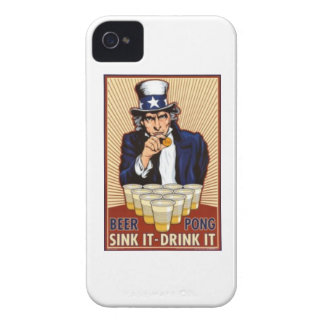 uncle Sam playing beer pong iphone cover
