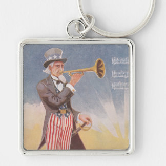 Uncle Sam Playing The Bugle Keychain