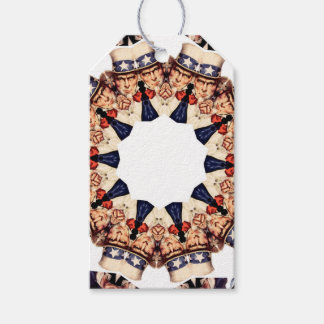 Uncle Sam Pointing Finger Kaleidoscope Gift Tags