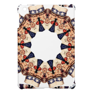 Uncle Sam Pointing Finger Kaleidoscope iPad Mini Cover