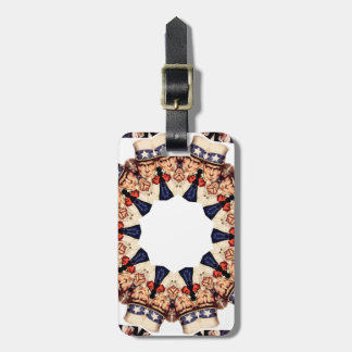 Uncle Sam Pointing Finger Kaleidoscope Luggage Tag