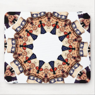 Uncle Sam Pointing Finger Kaleidoscope Mouse Pad