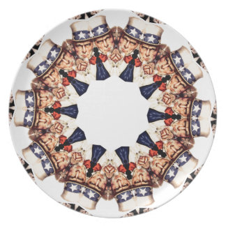 Uncle Sam Pointing Finger Kaleidoscope Plate