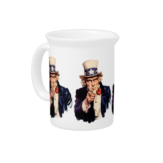 Uncle Sam Pointing His Finger Pitchers