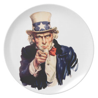 Uncle Sam Pointing His Finger Plates