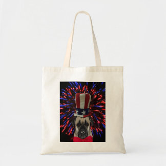 Uncle Sam Pug Tote Bag