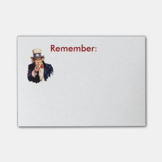 Uncle Sam Remember Post-It Post-it Notes