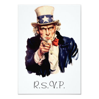 Uncle Sam RSVP Card
