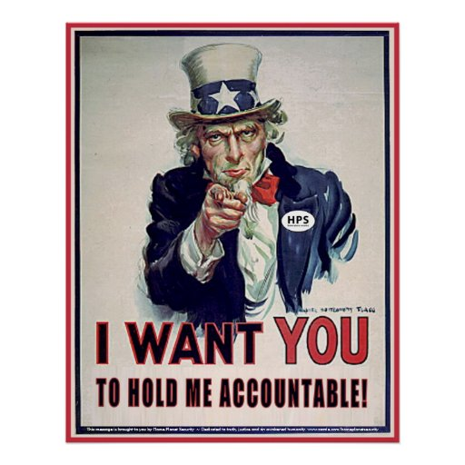 Uncle Sam says 'Hold Me Accountable' Print