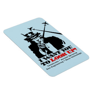 Uncle Sam says I Want You To Look Up Rectangular Photo Magnet