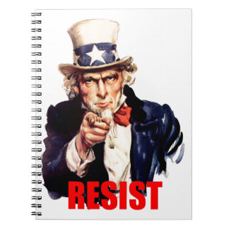 Uncle Sam Says Resist Notebook
