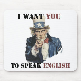 UNCLE SAM SPEAK ENGLISH PRODUCTS MOUSE PAD