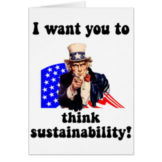 uncle sam sustainability greeting card