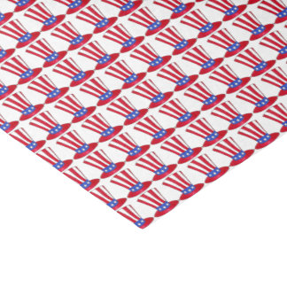 Uncle Sam Top Hat July 4th USA Patriotic Gift Wrap Tissue Paper