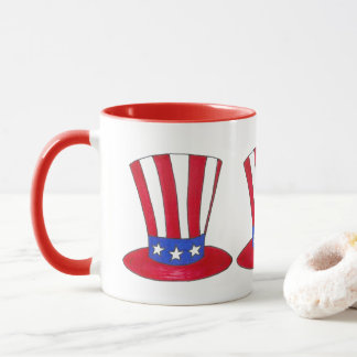 Uncle Sam Top Hat July 4th USA Patriotic Mug