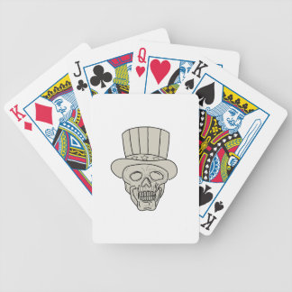 Uncle Sam Top Hat Skull Drawing Bicycle Playing Cards