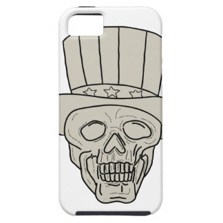 Uncle Sam Top Hat Skull Drawing iPhone 5 Case