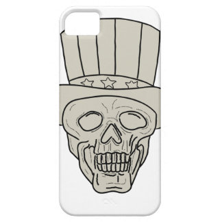 Uncle Sam Top Hat Skull Drawing iPhone 5 Cases