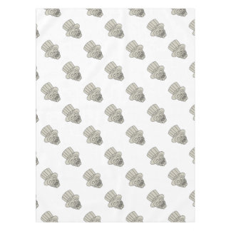 Uncle Sam Top Hat Skull Drawing Tablecloth
