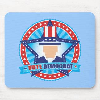 Uncle Sam Vote Democrat Mouse Pad