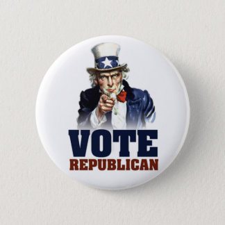 Uncle Sam Vote Republican Button