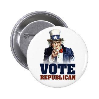 Uncle Sam Vote Republican Button
