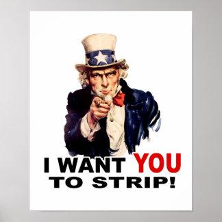 Uncle Sam WANT YOU STRIP Print