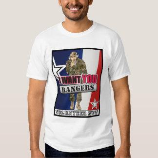 Uncle Sam Wants Rangers Now T Shirt