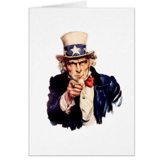 Uncle Sam Wants You! Greeting Card