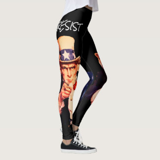 "Uncle Sam Wants You To ""Resist"" Leggings"