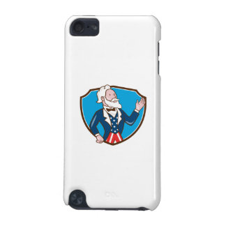 Uncle Sam Waving Hand Crest Cartoon iPod Touch (5th Generation) Case