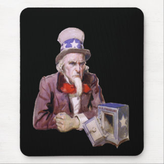 Uncle Sam With Empty Treasury Mouse Pad