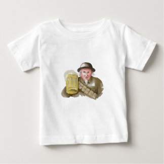 Uncle Sam WW1 Soldier Toasting Beer Watercolor Baby T-Shirt