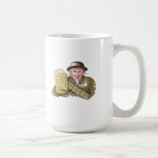 Uncle Sam WW1 Soldier Toasting Beer Watercolor Coffee Mug