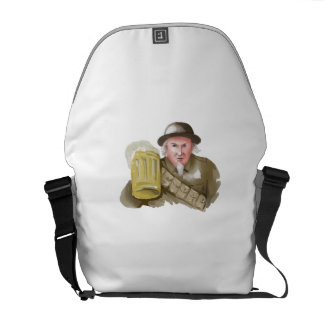 Uncle Sam WW1 Soldier Toasting Beer Watercolor Commuter Bag