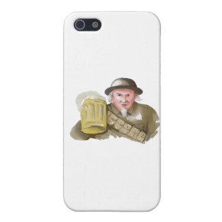 Uncle Sam WW1 Soldier Toasting Beer Watercolor iPhone 5/5S Covers