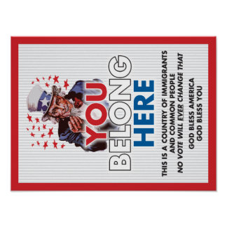 Uncle Sam 'You Belong Here' Poster